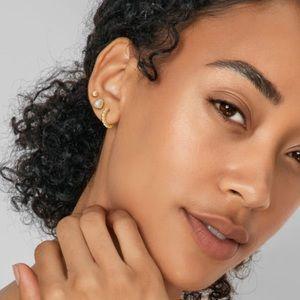 Kendra Scott Ivy Gold Huggie & Stud Earrings
